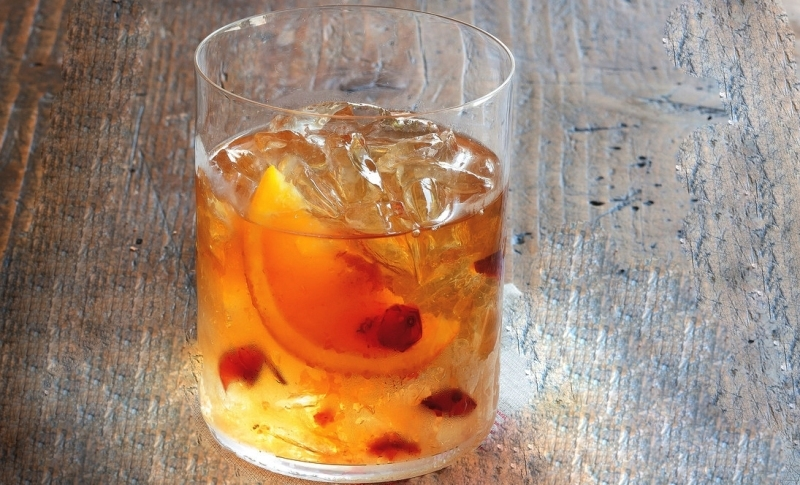 Cranberry Bourbon Old-Fashioned