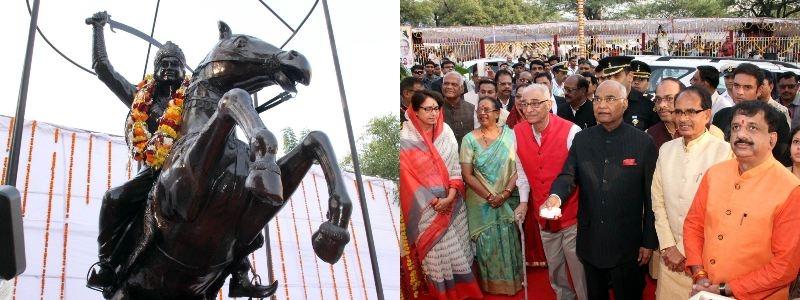 President Kovind unveils statue of Jhalkari Bai