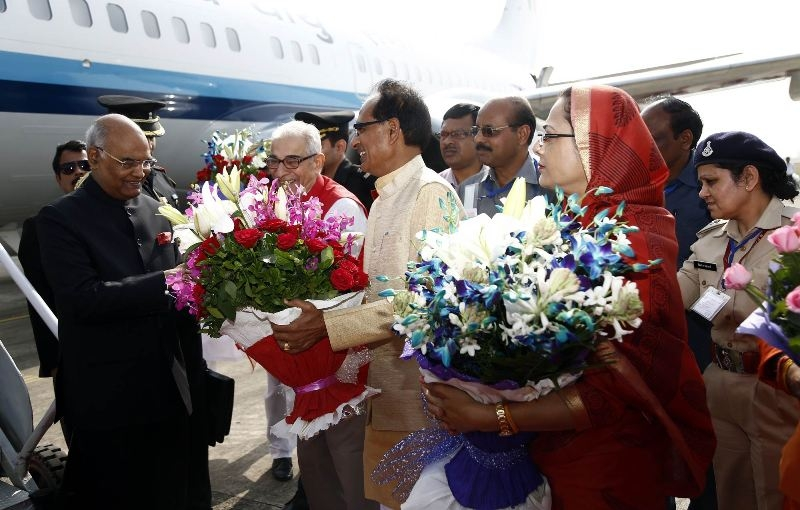 President Kovind accorded grand welcome on his maiden visit to state