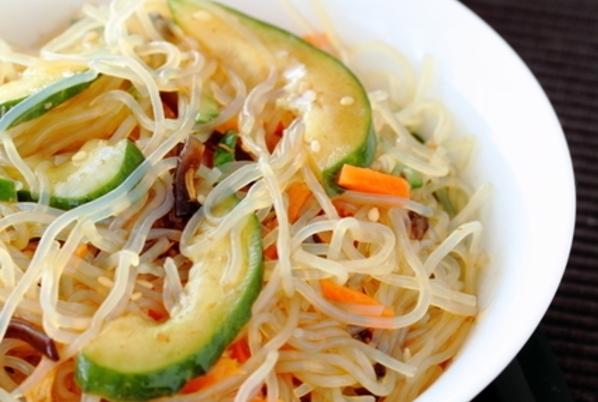 Spicy Shirataki Noodle Salad