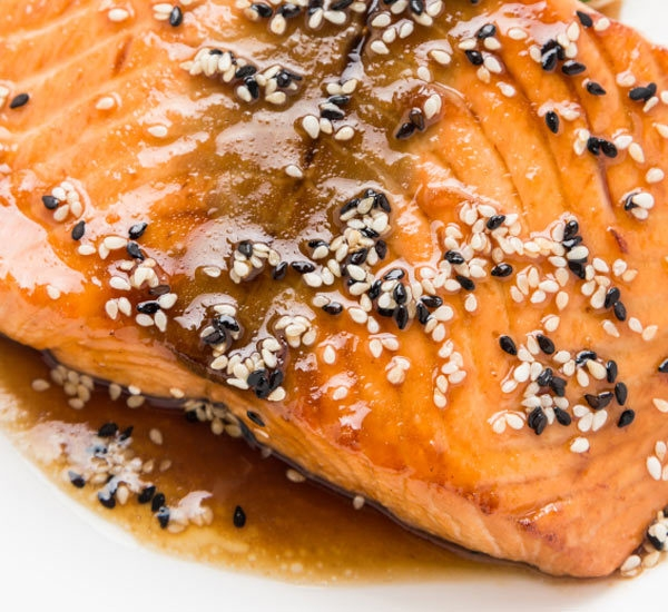 Seared Salmon With Wasabi Soy Dressing