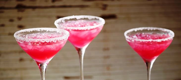Cranberry Tequila Lime Margaritas