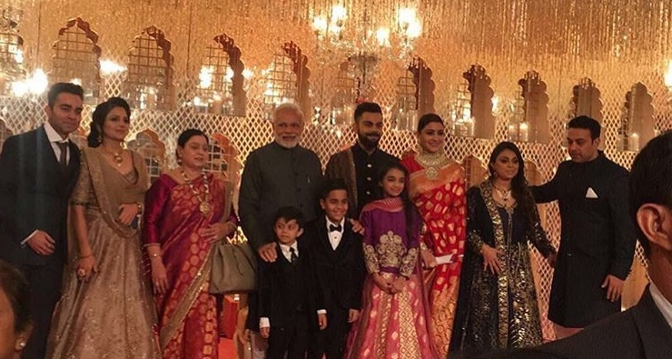 The Virushka's Wedding in Italy Followed by the 1st Inning of Reception at Delhi in Attendance with the PM Modi.