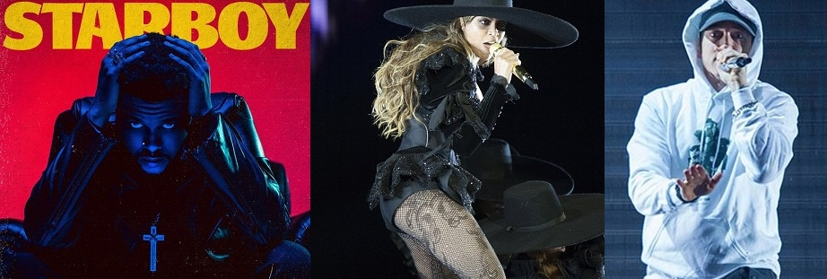 The Weekend, the Beyonce and the Eminem