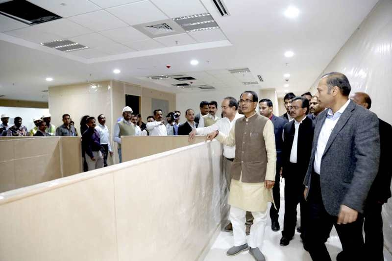 CM Chouhan Inspects Mantralaya Extension's Construction Work