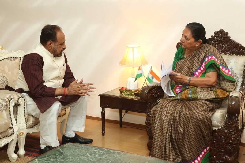 Rural Development Minister Bhargav meets Governor Smt. Patel