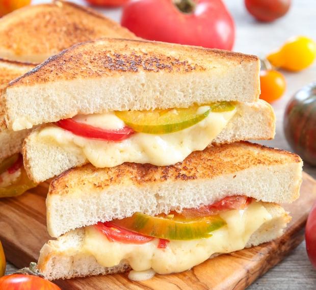 Grilled Cheesy Tomato Sandwich