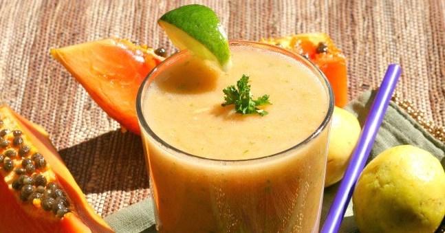 Almond Papaya Shake