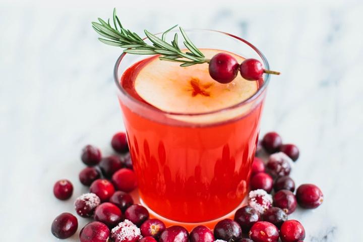 Cran-Apple Cider Mocktail