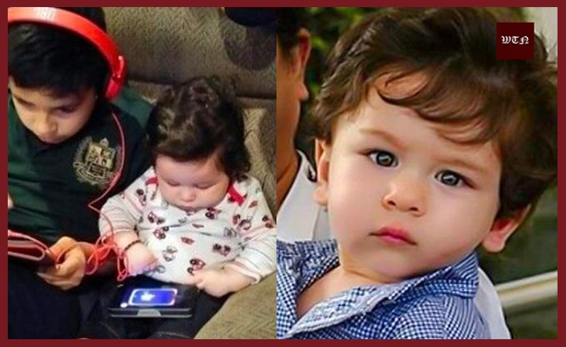 Taimur has become fond of gadgets at babyhood