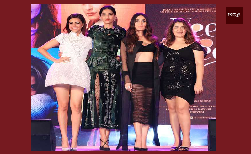 All Stars Reached the Music Launch of 'Veere Di Wedding' including Kareena, Sonam, Swara.