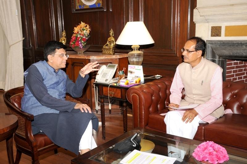 CM Chouhan meets Union Finance Minister Piyush Goyal
