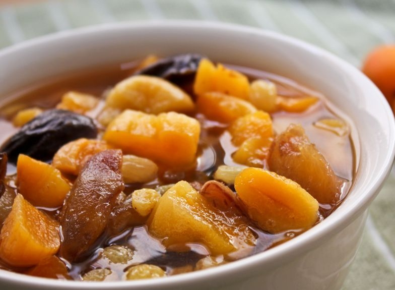 Dried Apricots Poached with Lime and Spices