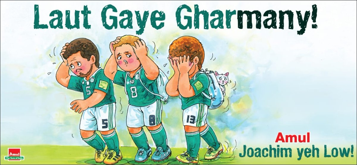 Amul 'Utterly butterly delicious' puns and satire on World Cup