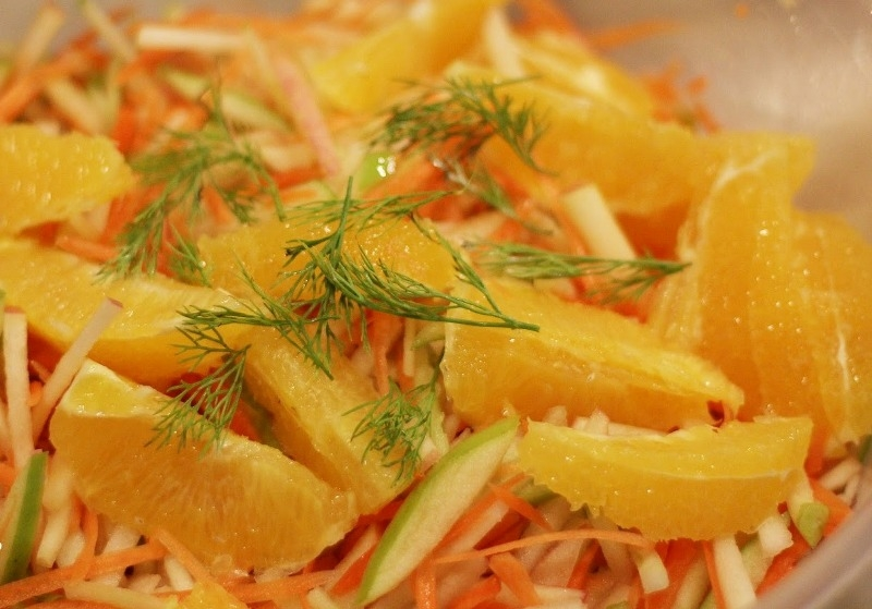 Carrot, Apple and Orange Coleslaw