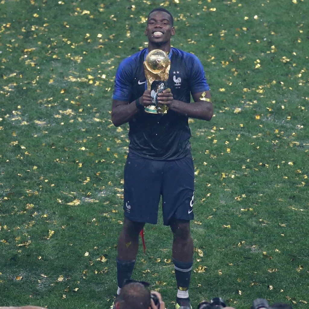 FIFA World Cup winner Pogba gave a touching tribute to his father
