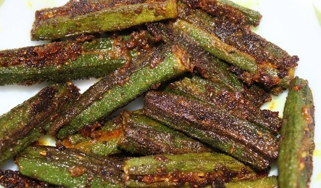 Okra with chilli