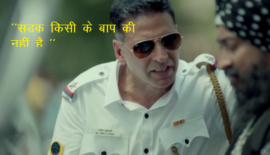 "Akshay Kumar scolded traffic rule violators ""Ye Road Kisi Ke Baap Ki Nahi Hai""!"