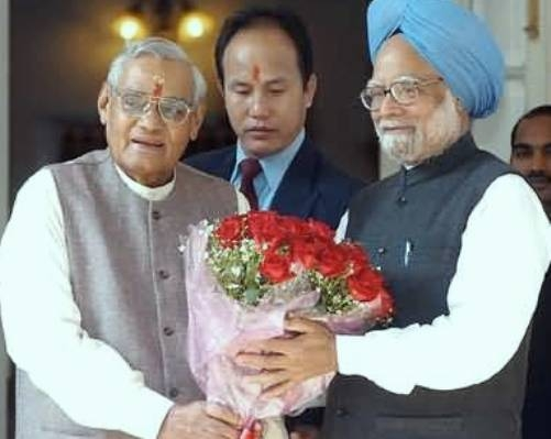 Once when Manmohan Singh decided to give resignation after Atalji's speech!