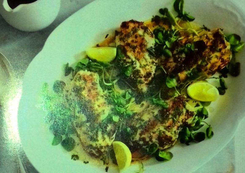 Herb-marinated chicken breasts