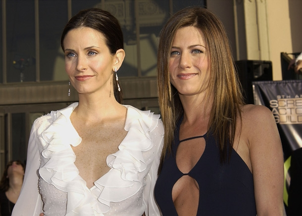 Jennifer Aniston and Courteney Cox seen together after Aniston's former husband Justin Theroux broke his silence on their split