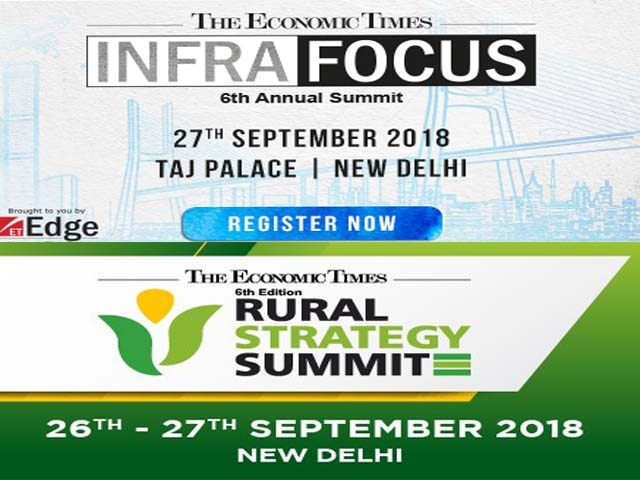 The 6th Edition of the ET Rural Strategy Summit 2018 will be held on 26th & 27th September 2018 in New Delhi