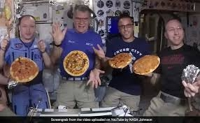 Zero-gravity pizza party on the International Space Station