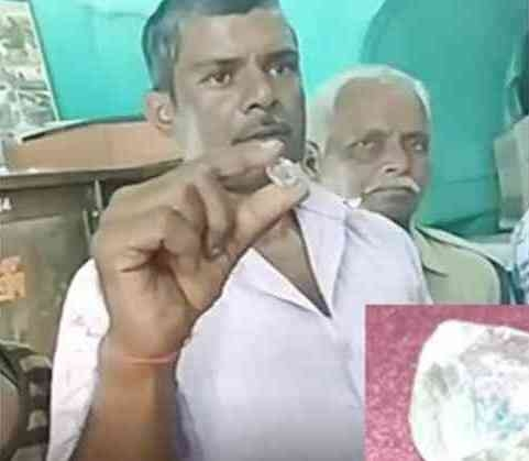 Laborer finds diamond worth Rs 1.5 crore