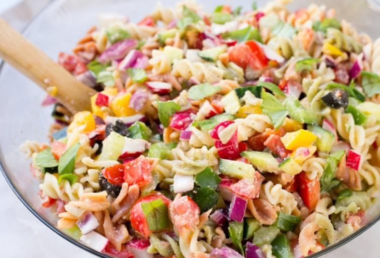 Rainbow Veggie Pasta Salad