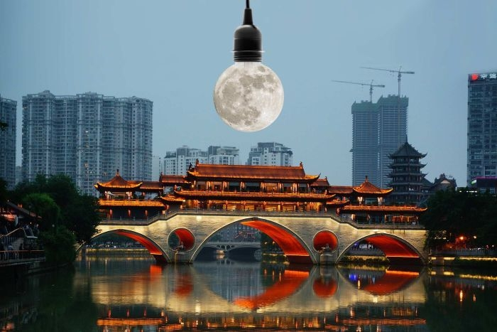 China plans to launch an artificial moon that's brighter than the real one