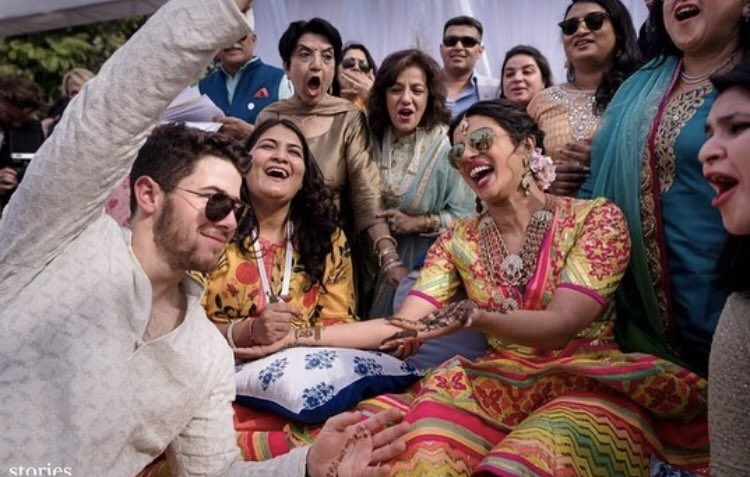 The screaming aunty at Priyanka and Nick's mehendi is now a meme