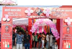 All polling stations turned into Adarsh polling stations: Atmosphere festive