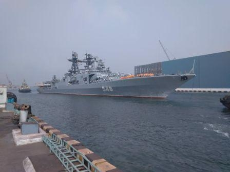Russian Navy Ships arrive In India to participate in INDRA NAVY 2018