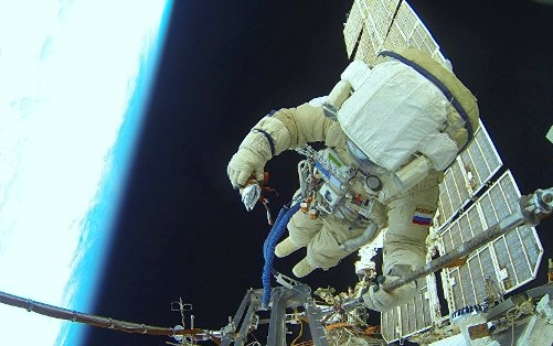 Spacewalk: Russian cosmonauts to check hole in Soyuz docked to ISS