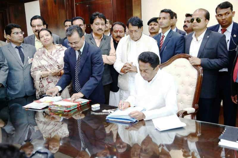 Chief Minister Kamal Nath fulfills biggest promise on first day