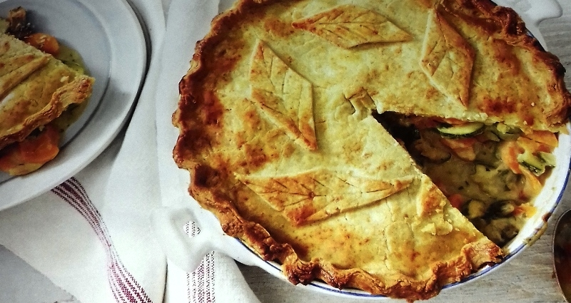 Cheese and vegetable pie