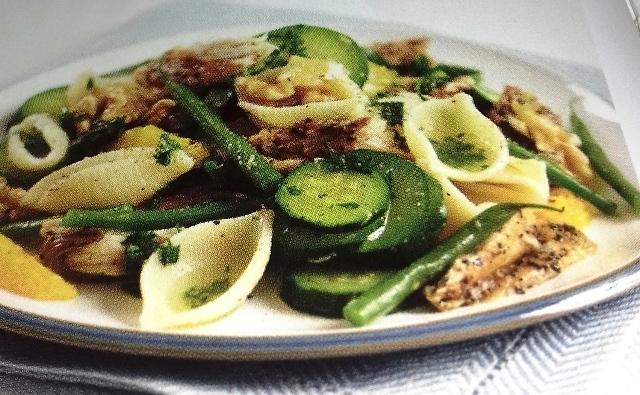 Pasta and mackerel salad