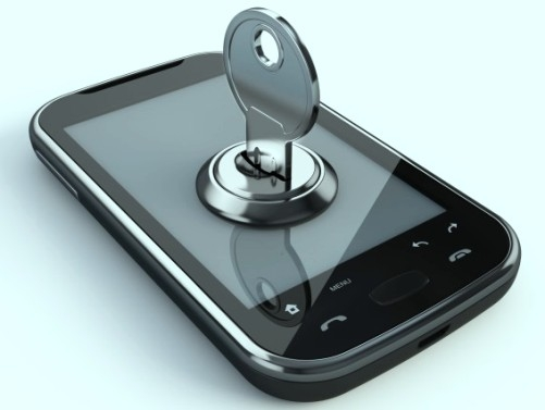 Unlock the mobile phone while sitting in the home!