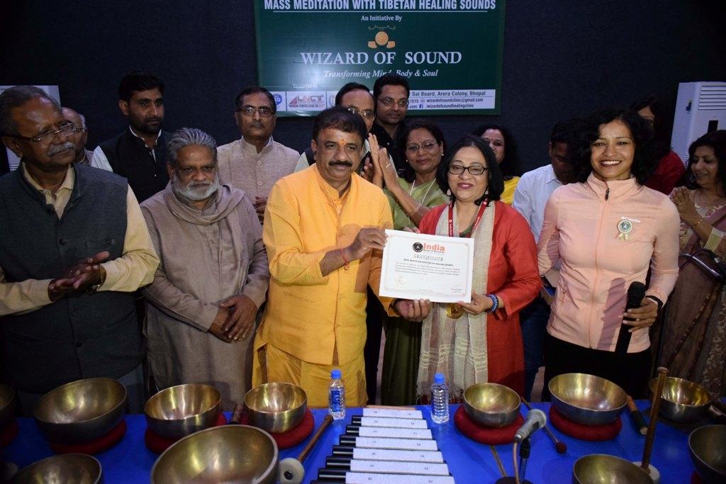 Bhopal registers mass sound healing & meditation record
