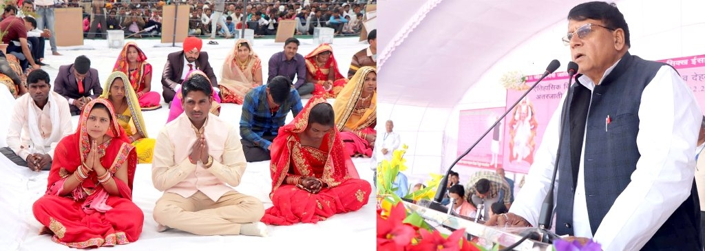 Ministers Sharma and Panse attends Inter Caste Mass Marriage Programme