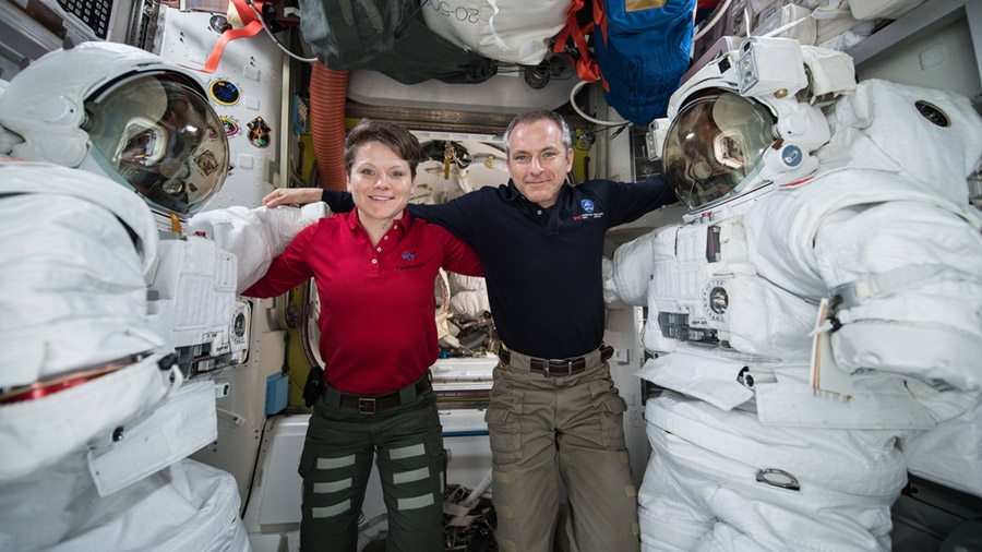 NASA astronauts conduct the first spacewalk of 2019
