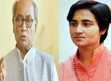 दिग्विजय सिंह के ख़िलाफ़ भाजपा के टिकट पर चुनाव लड़ सकती हैं साध्वी प्रज्ञा
