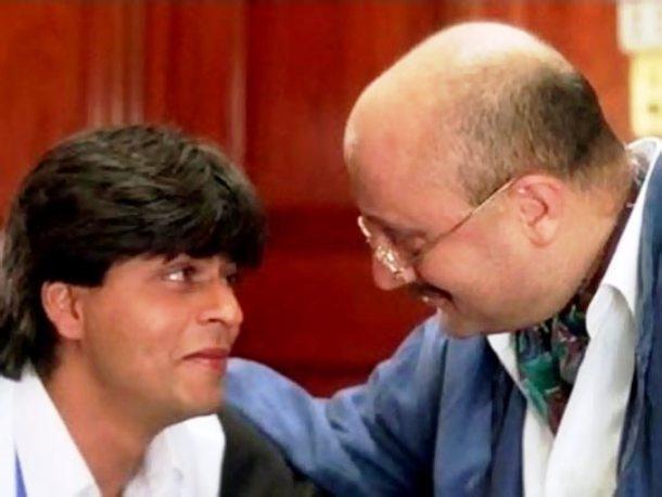 DDLJ daddy Anupam rebond SRK on Twitter