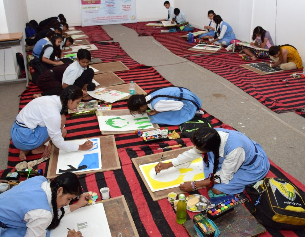 Painting competition 'Museum & Tourism' held at IGRMS, Do & Learn Workshop starts