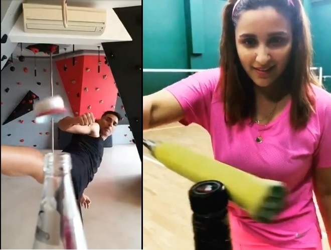 How Bollywood to Hollywood sweep up #Bottle Cap Challange
