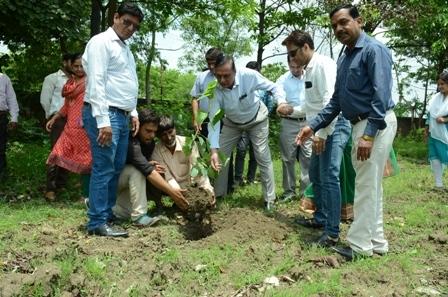 गुरु पूर्णिमा के शुभ अवसर पर पीपुल्स यूनिवर्सिटी में पीपल वृक्षारोपण कार्यक्रम का आयोजन