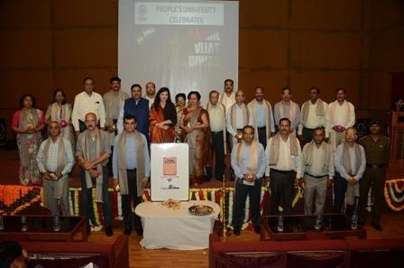 Peoples' University felicitates ex-servicemen