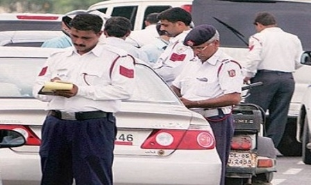 Traffic police accused of misbehavior
