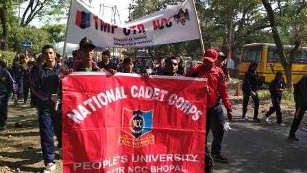 Swachh Bharat Abhiyan of the NCC cadets of People's University