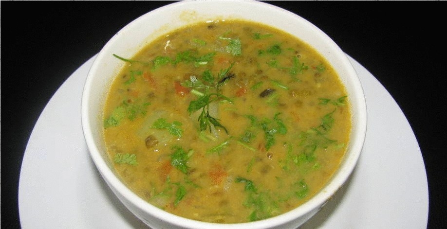 Moong Dal Kiwi Coconut Soup